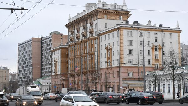 Здание посольства США в Москве - Sputnik Azərbaycan