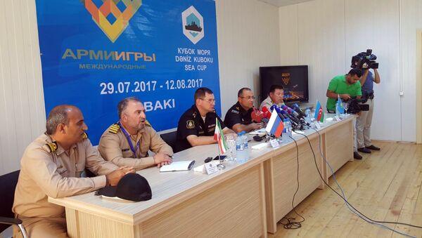 В Баку проведена пресс-конференция в связи с началом международного конкурса Кубок моря - 2017 - Sputnik Азербайджан