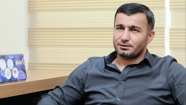 Главный тренер Карабаха Гурбан Гурбанов, фото из архива - Sputnik Азербайджан