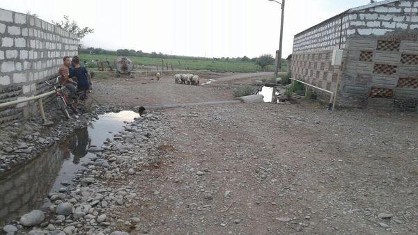 Дорога в селе Гараязы Акстафинского района - Sputnik Азербайджан