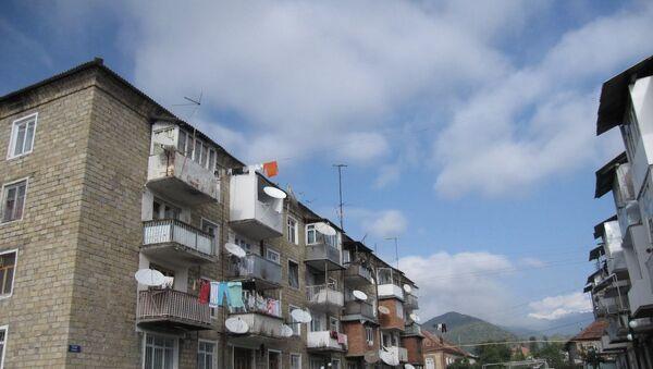 Жилые дома в Загатале, фото из архива - Sputnik Азербайджан