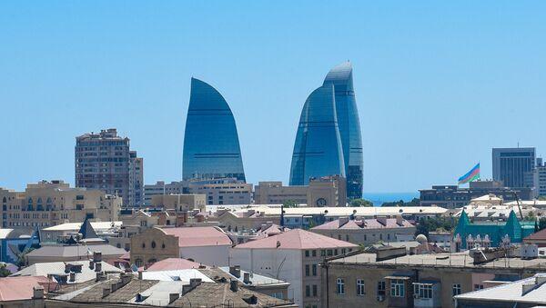 Вид на Flame Towers в Баку  - Sputnik Азербайджан