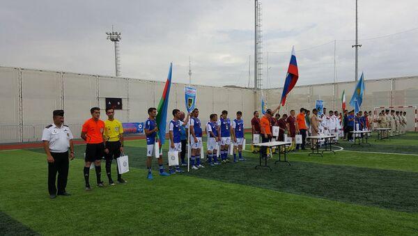 Соревнования по мини-футболу между участниками конкурса Кубок моря - 2017 - Sputnik Азербайджан