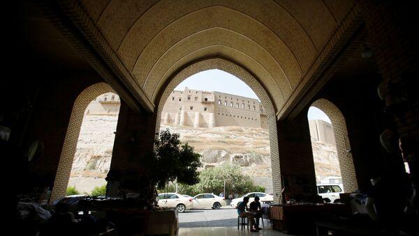 Вид на крепость в городе Эрбиль, Ирак, 29 июля 2017 года - Sputnik Азербайджан
