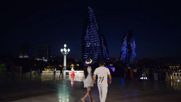 Кадр из клипа Baku - Sputnik Азербайджан