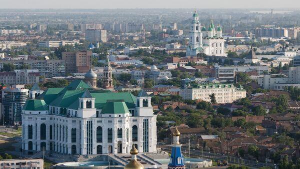 Вид на город Астрахань, фото из архива - Sputnik Азербайджан