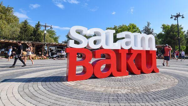 Инсталляция Salam Baku на Бакинском приморском парке - Sputnik Азербайджан