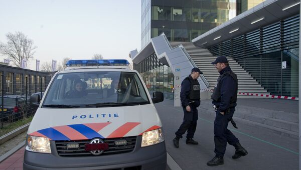 Сотрудники полиции в Нидерландах, фото из архива - Sputnik Азербайджан