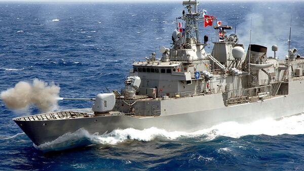 Корабль ВМС Турции, фото из архива - Sputnik Азербайджан