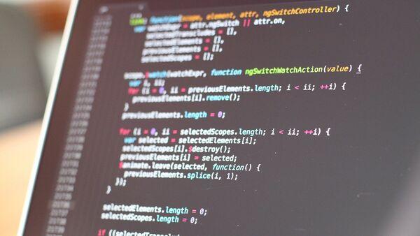 Программный код, фото из архива - Sputnik Азербайджан