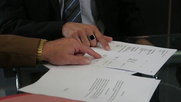 Подписание контракта, фото из архива - Sputnik Азербайджан