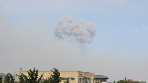 Пожар в оружейном складе N-ской воинской части Министерства обороны Азербайджана - Sputnik Азербайджан