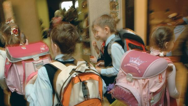 Ученики средней общеобразовательной школы, фото из архива - Sputnik Азербайджан