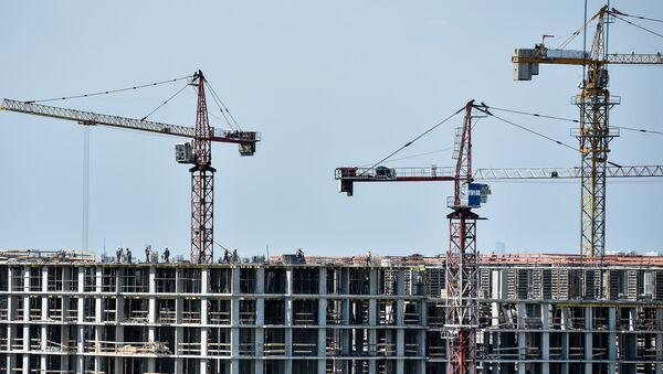 Строительство жилищного комплекса, фото из архива - Sputnik Azərbaycan