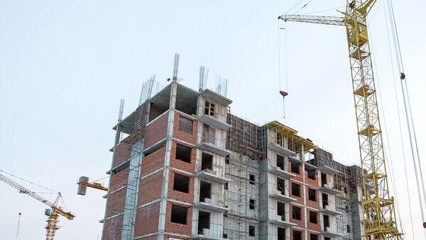 Строительство жилых домов, фото из архива - Sputnik Азербайджан