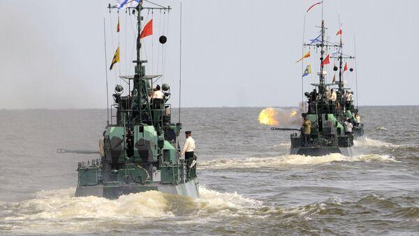 Учения батальона морской пехоты Каспийской флотилии РФ - Sputnik Азербайджан