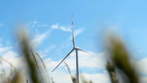 Ветроэнергетическая установка, фото из архива - Sputnik Азербайджан