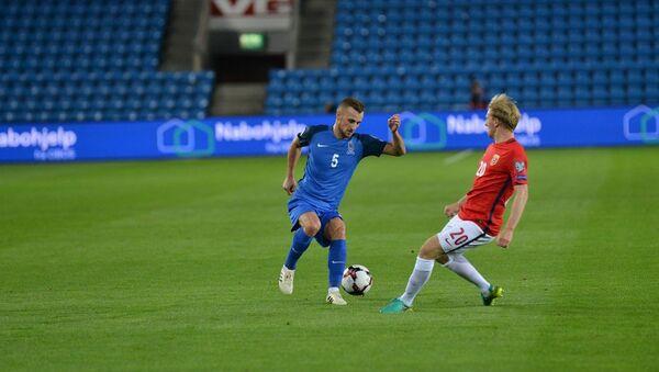 Футбольный матч между сборными Норвегии и Азербайджана, Осло, 2 сентября 2017 года - Sputnik Азербайджан