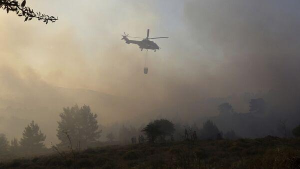 Тушение лесного пожара, архивное фото - Sputnik Азербайджан