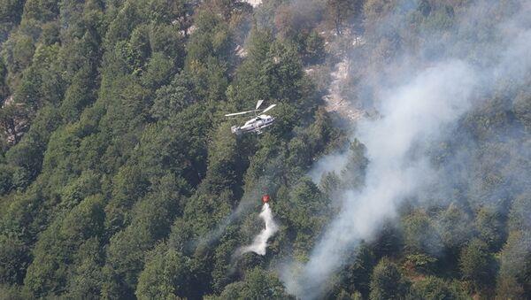 Тушение лесного пожара в Габале, фото из архива - Sputnik Азербайджан
