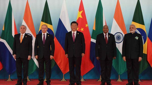 Встреча лидеров БРИКС, 4 сентября 2017 года - Sputnik Азербайджан