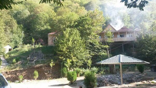 Пожар в центре семейного отдыха Narzan в селе Шамлы Товузского района - Sputnik Азербайджан