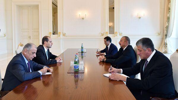 Глава МИД Грузии Михеил Джанелидзе на встрече с президентом Азербайджана Ильхамом Алиевым - Sputnik Азербайджан