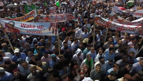 Масштабный митинг солидарности с мусульманами Мьянмы в Грозном - Sputnik Азербайджан