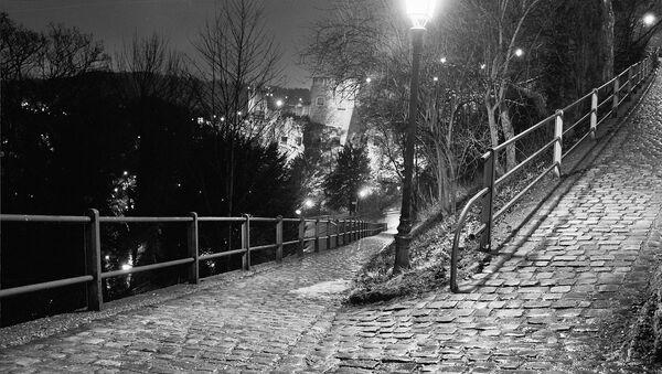 Ночной парк, фото из архива - Sputnik Азербайджан