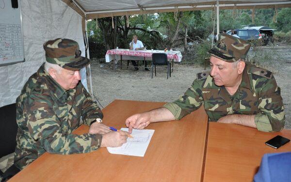 Совещание Оперативного штаба МЧС по тушению пожаров на территории Габалинского района - Sputnik Азербайджан