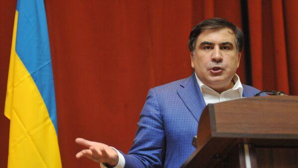 Лидер Движения новых сил, бывший глава Одесской области Михаил Саакашвили, фото из архива - Sputnik Азербайджан