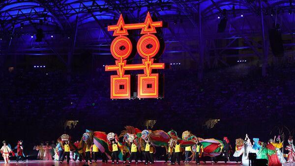 Церемония открытия Летней Универсиады 2017 в Тайбэе, 19 августа 2017 года - Sputnik Азербайджан