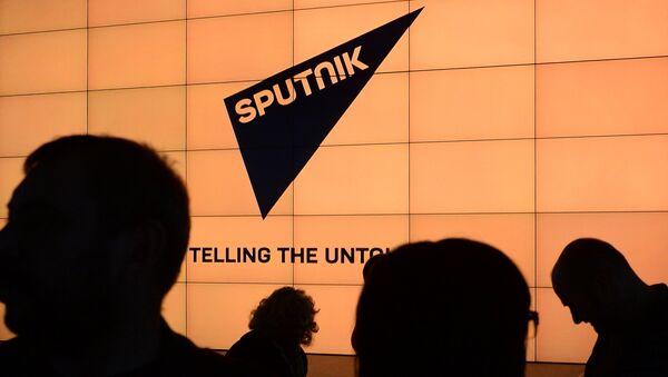 Логотип международного информационного бренда Спутник, фото из архива - Sputnik Азербайджан