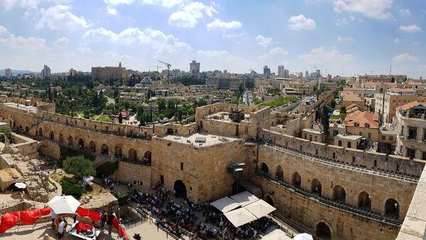Вид с башни Давида на Иерусалим, фото из архива - Sputnik Азербайджан