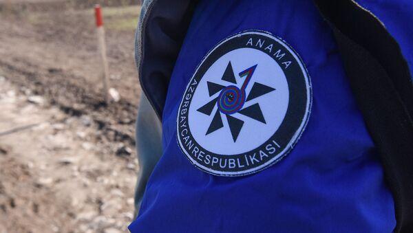 Эмблема ANAMA (Азербайджанское национальное агентство по разминированию), фото из архива - Sputnik Azərbaycan