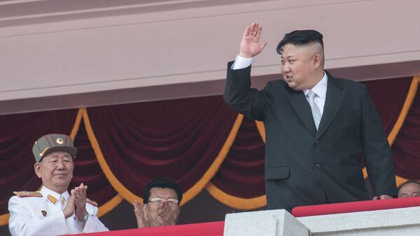 Глава КНДР Ким Чен Ын, фото из архива - Sputnik Азербайджан