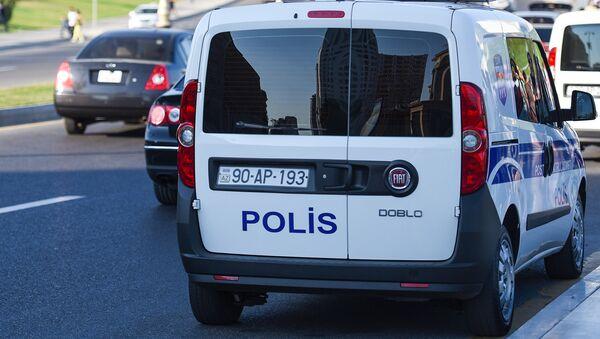 Автомобиль дежурной части полиции в Баку, фото из архива - Sputnik Азербайджан