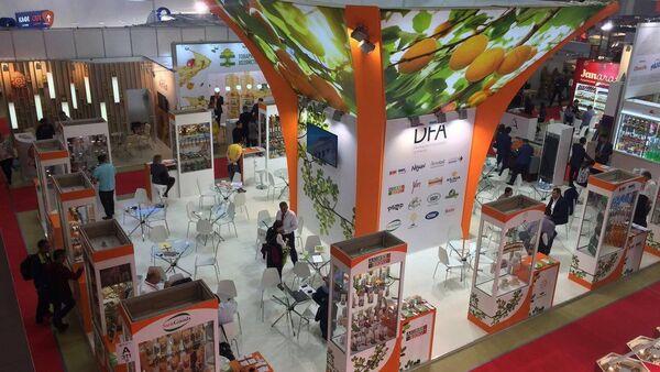 Стенд Армении на  Международной выставке продуктов питания WorldFood Moscow, фото из архива - Sputnik Азербайджан