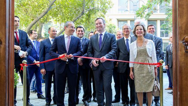 Церемония открытия нового здания Азербайджано-французского университета - Sputnik Азербайджан