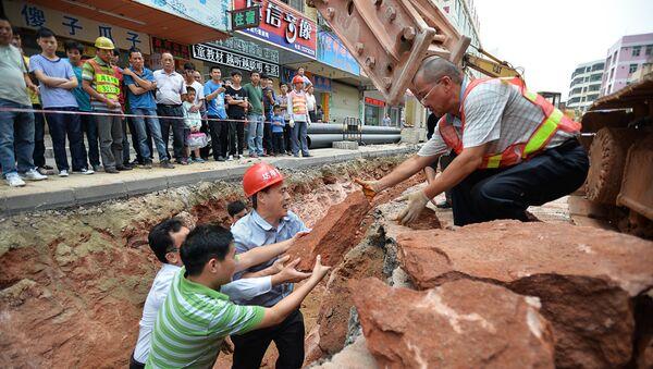 Çində yol qazıntıları - Sputnik Azərbaycan