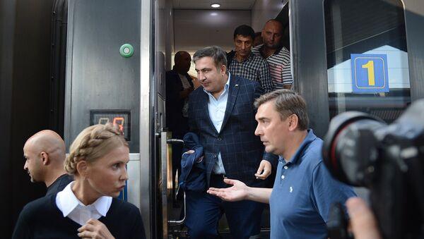 Михаил Саакашвили пересек польско-украинскую границу - Sputnik Azərbaycan