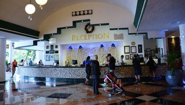 Ресепшн отеля, фото из архива - Sputnik Азербайджан