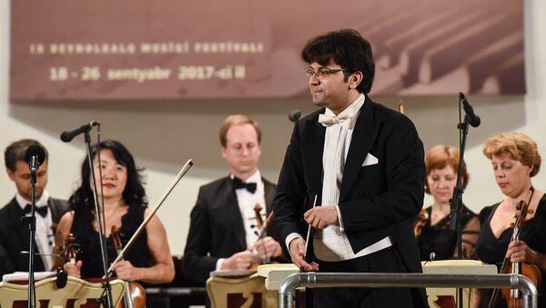 Концерт Новосибирского филармонического камерного оркестра в рамках Международного музыкального фестиваля Узеира Гаджибейли. - Sputnik Азербайджан
