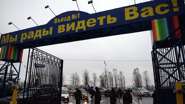 Moskvanın Sadovod bazarında Rusiya hüquq-mühafizə orqanlarının əməkdaşları, arxiv şəkli - Sputnik Azərbaycan