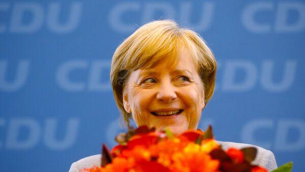 Действующий канцлер ФРГ Ангела Меркель - Sputnik Азербайджан