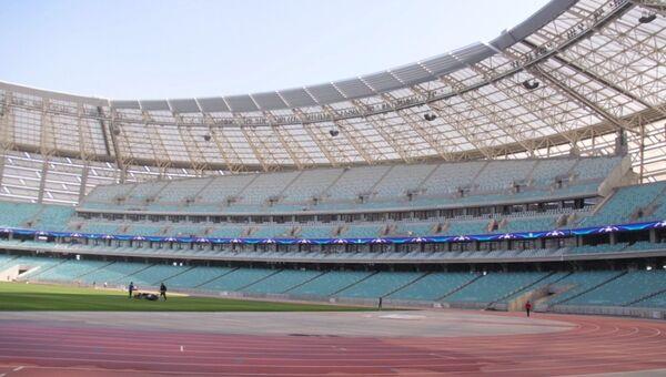 Бакинский олимпийский стадион в преддверии футбольного матча Карабах-Рома - Sputnik Азербайджан