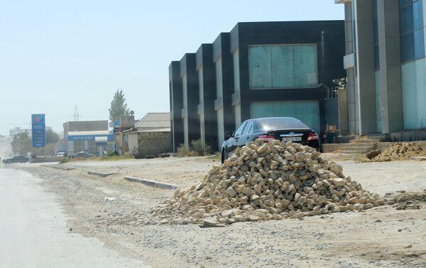 Ремонтные работы на Бинагадинском шоссе - Sputnik Азербайджан