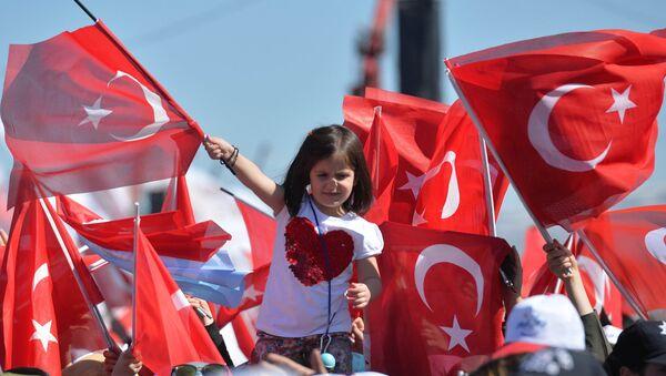 Türkiyə bayraqları, arxiv şəkli - Sputnik Azərbaycan