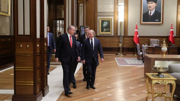 Vladimir Putin və Rəcəb Tayyib Ərdoğan - Sputnik Azərbaycan