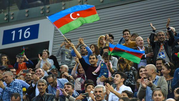 Фанаты  Азеррейла, фото из архива - Sputnik Азербайджан